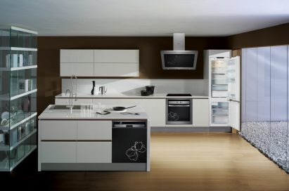 One example of a modern, eco-chic kitchen equipped with LG's leading home appliances.