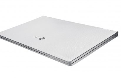 The closed LG X300 in white
