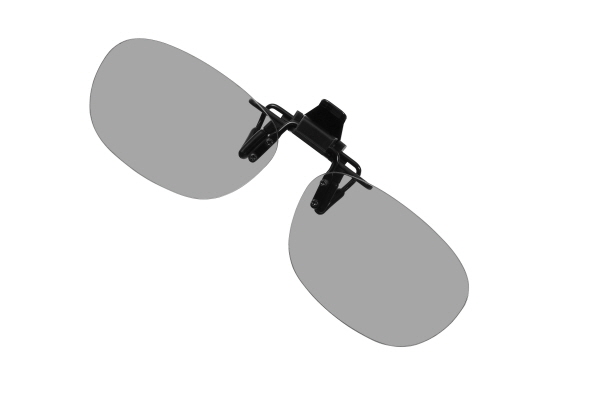 Top view of the clip-on 3D Glasses for LG A510 laptop