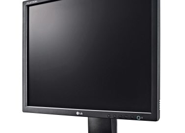 The LG E10 LED Monitor facing 30-degrees to the left