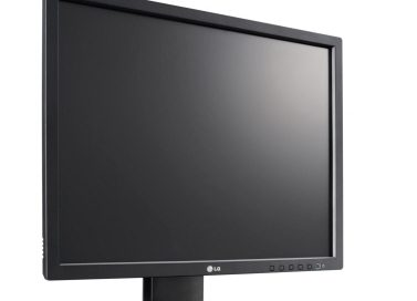 The LG E10 LED Monitor facing 30-degrees to the right