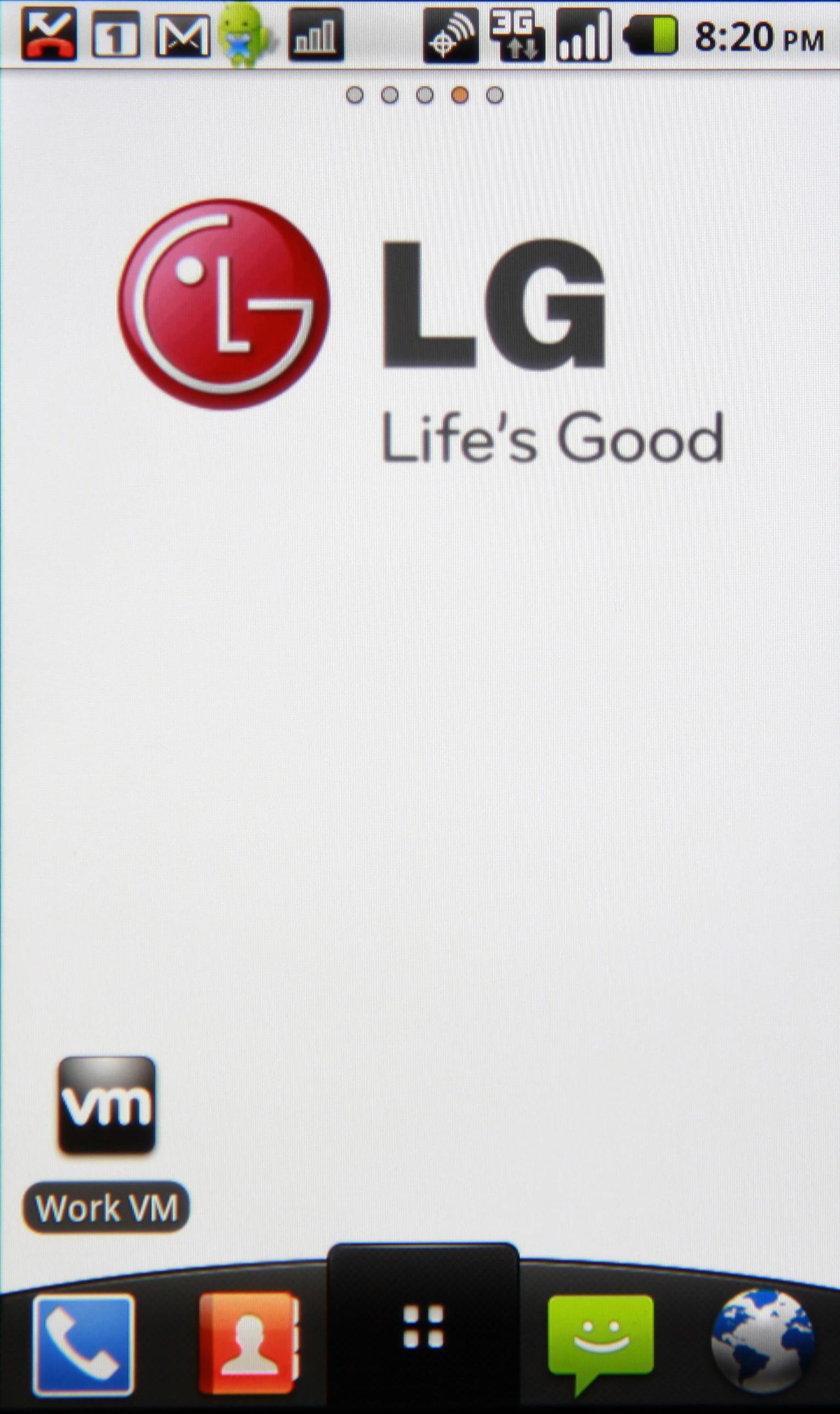 The VMware application icon on an LG smartphone's home screen.