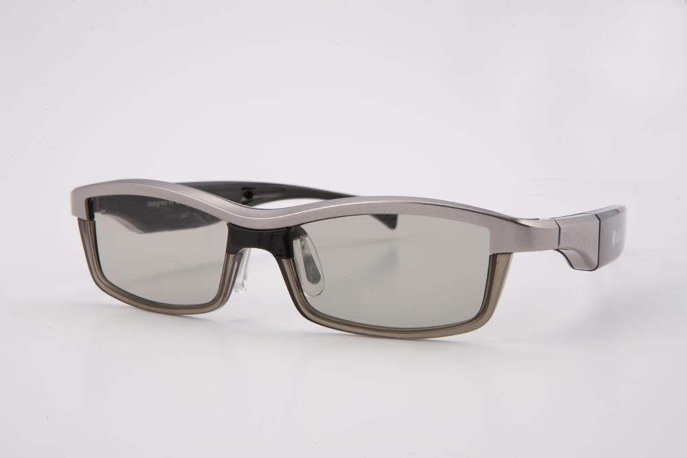 Front view of LG's 3D glasses facing slightly to the left