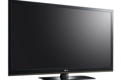 A left-side view of the LG plasma HDTV model PT350