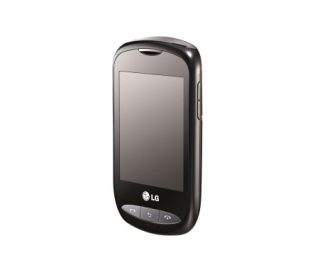 Front view of the LG Wink Style in titan silver