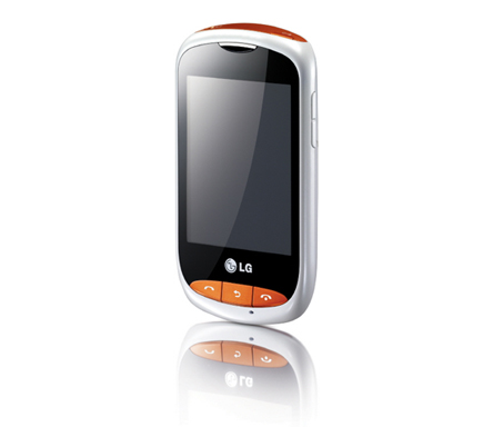 Front view of the LG Wink Style in white