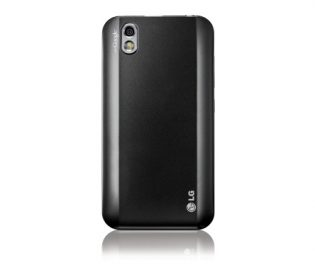 Rear view of the LG Optimus Black