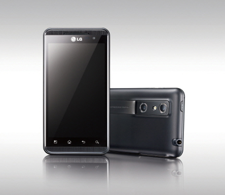 Front and rear view of the LG Optimus 3D