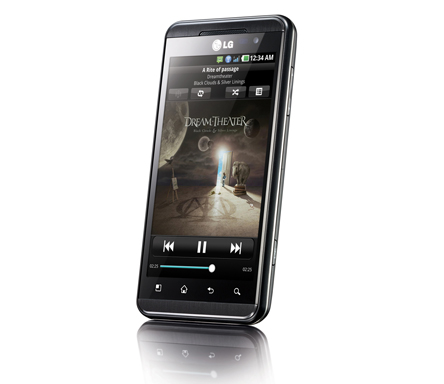 Front view of LG's OPTIMUS 3D