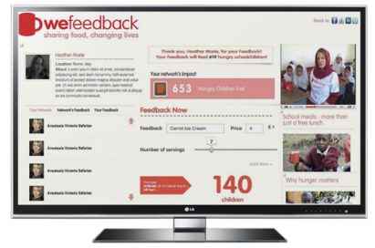 A screenshot of the main page of WeFeedback (www.wefeedback.org)