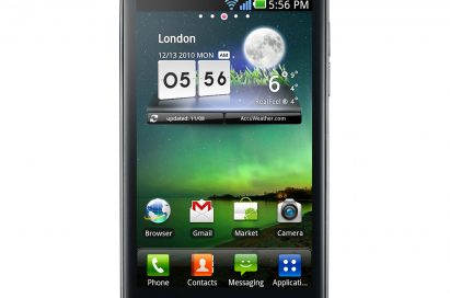 Front view of LG Optimus 2X
