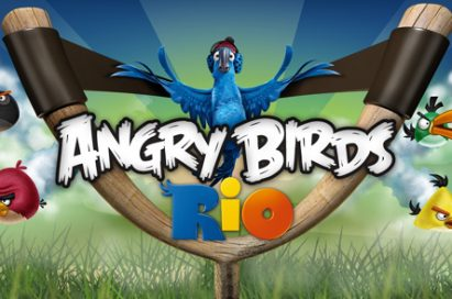 A wallpaper image of Angry Birds Rio
