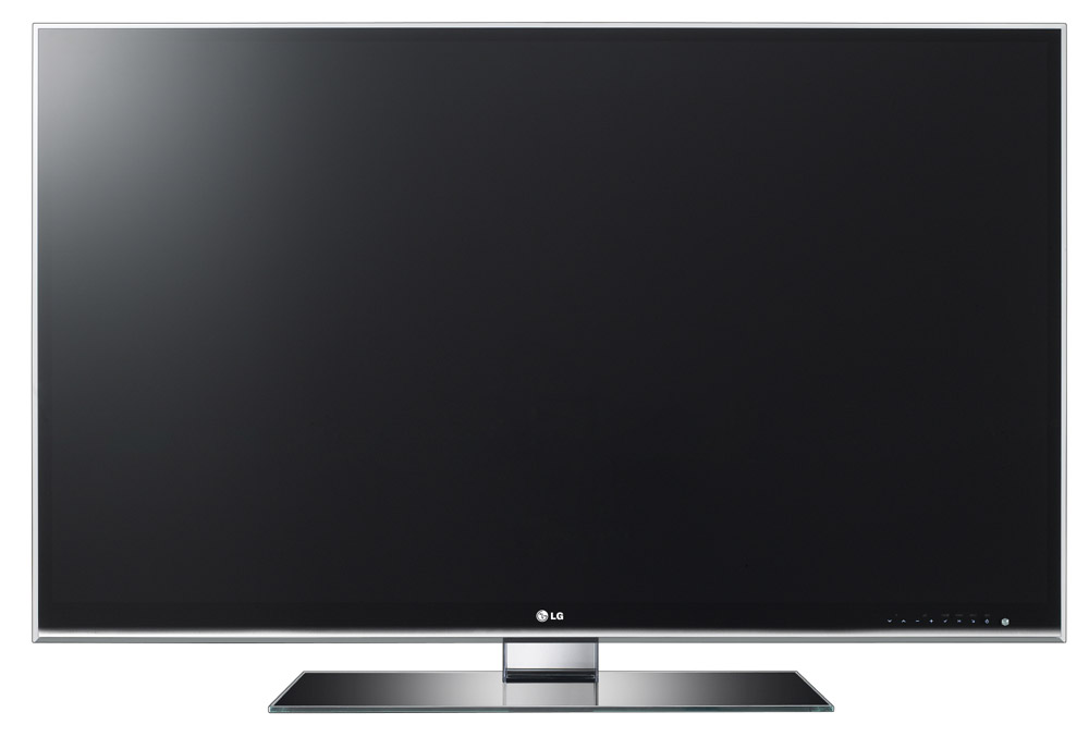 Front view of LG's LW980S LCD TV