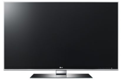Front view of the LG CINEMA 3D TV model LW980S