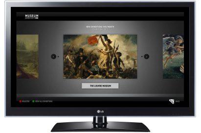 LG Smart TV's art museum app, MUSEUM, displays artwork from the Louvre Museum