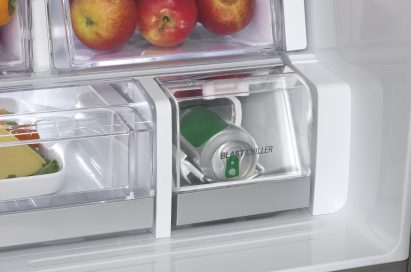 Close-up of the LG refrigerator's Blast Chiller section
