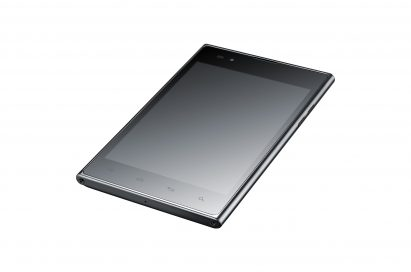 45-degree view of LG Optimus Vu:
