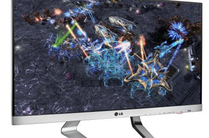 Front view of the LG IPS Twisted Nematic monitor