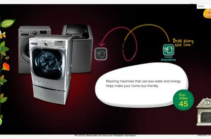 A section on LG's My Eco Home website which introduces the company's environment-friendly technologies incorporated into its home appliances