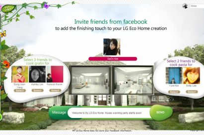 The Facebook friend invitation feature of LG's My Eco Home website