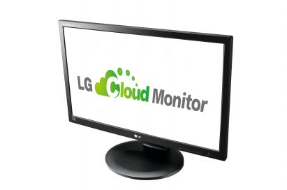 A right-side view of LG cloud monitor P Series model N2311AZ