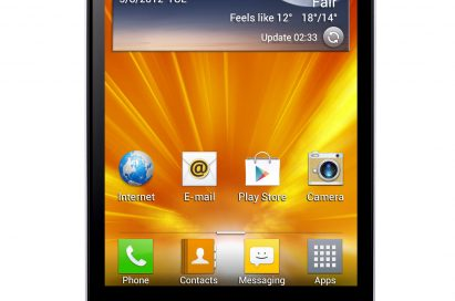 Front view of LG Optimus 4X HD