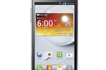 Front view of LG Optimus LTE II