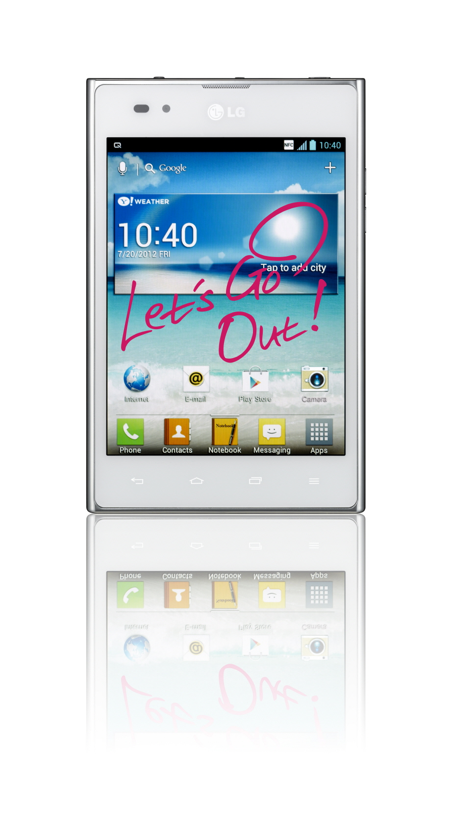 Front view of LG Optimus Vu: