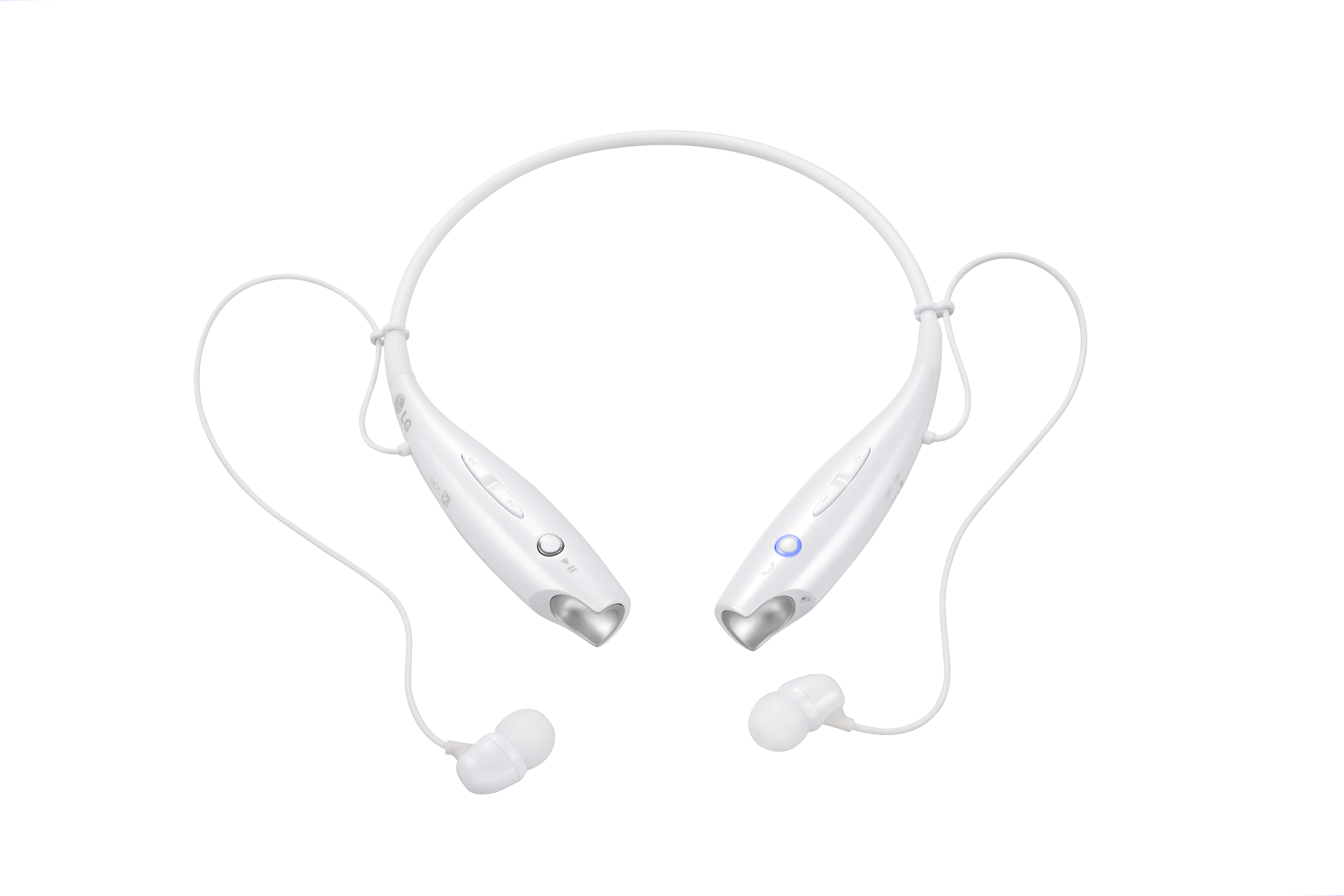 Front view of LG TONE+ in white
