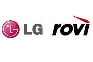 Logo of LG Electronics and rovi