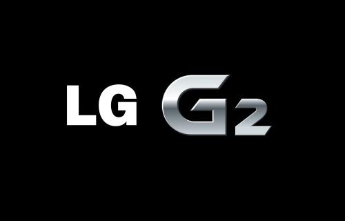 Logo of LG G2 against a black background.