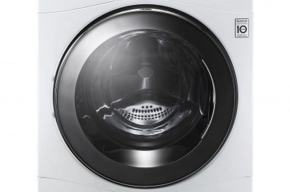 Front view of the LG Eco-Hybrid washer dryer