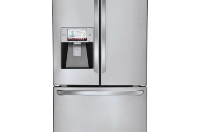 Front view of LG's smart refrigerator