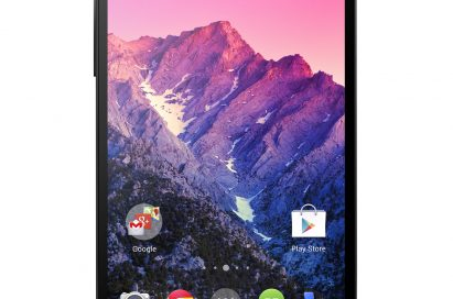A front view of LG Nexus 5.