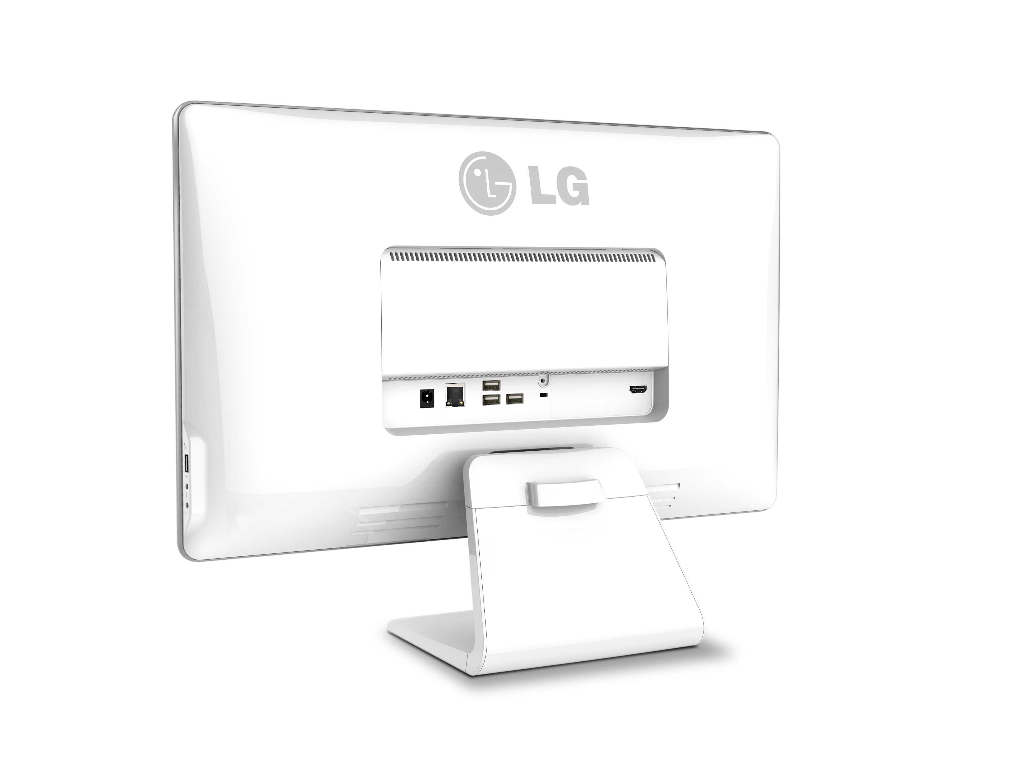 Rear view of LG Chromebase model 22CV241