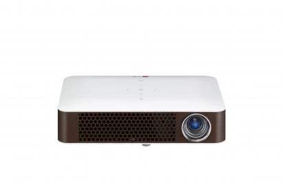 A front view of LG's bluetooth MiniBeam projector (model PW700)