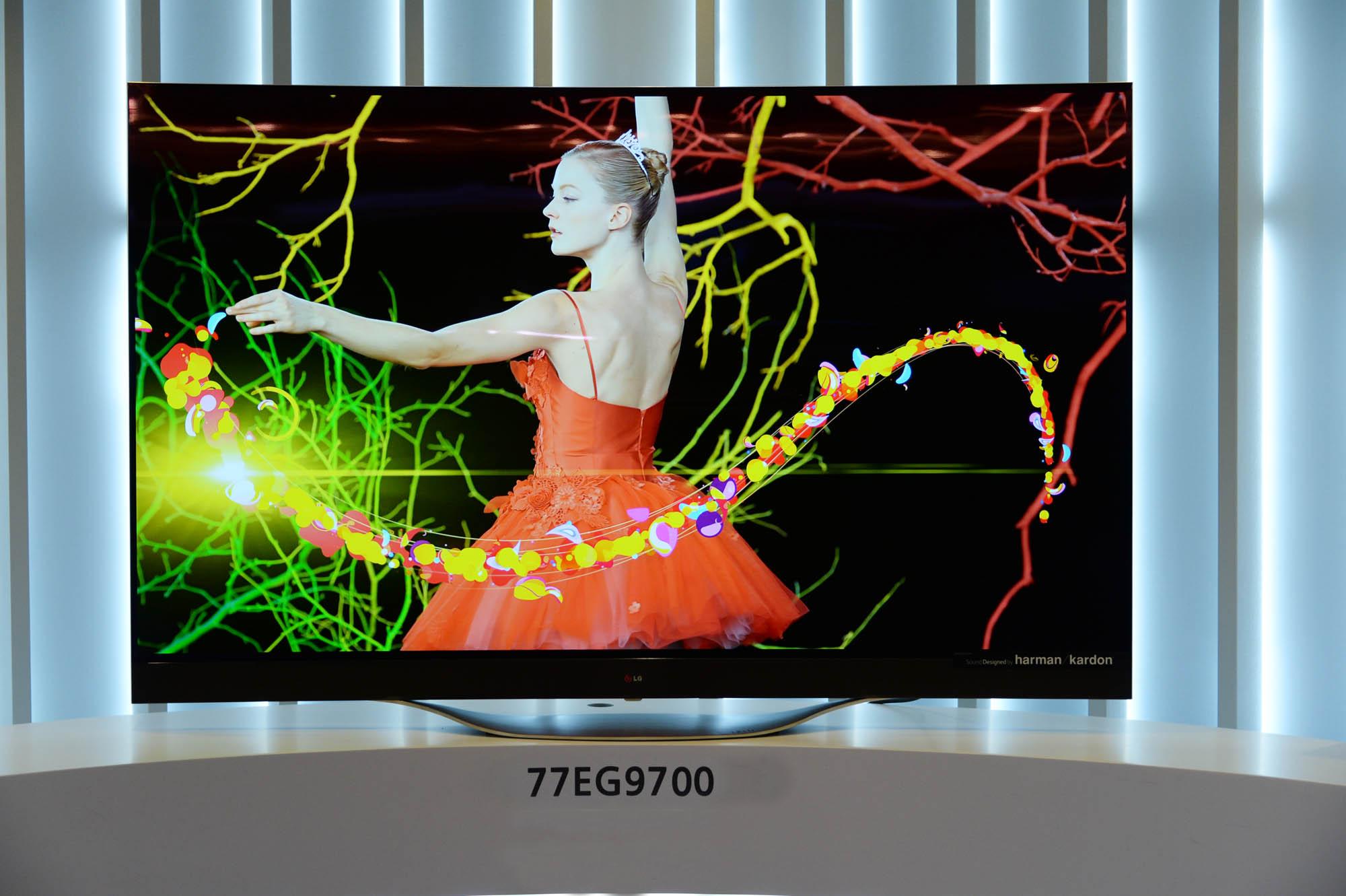 LG 4K OLED TV model 77EG9700