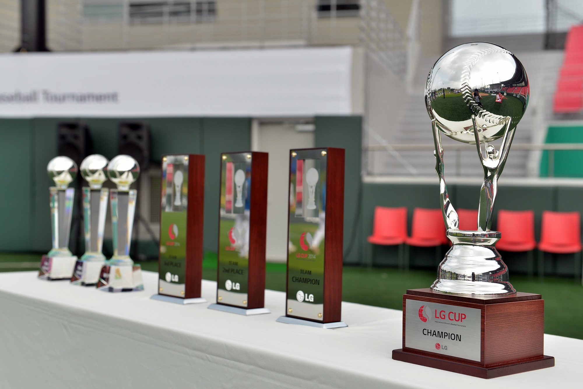 Trophies for the LG Cup 2014 winners.