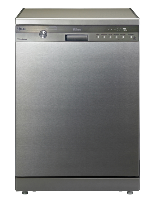 A front view of LG's TrueSteam™ Dishwasher.