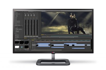 Front view of LG 4K Monitor model 31MU972