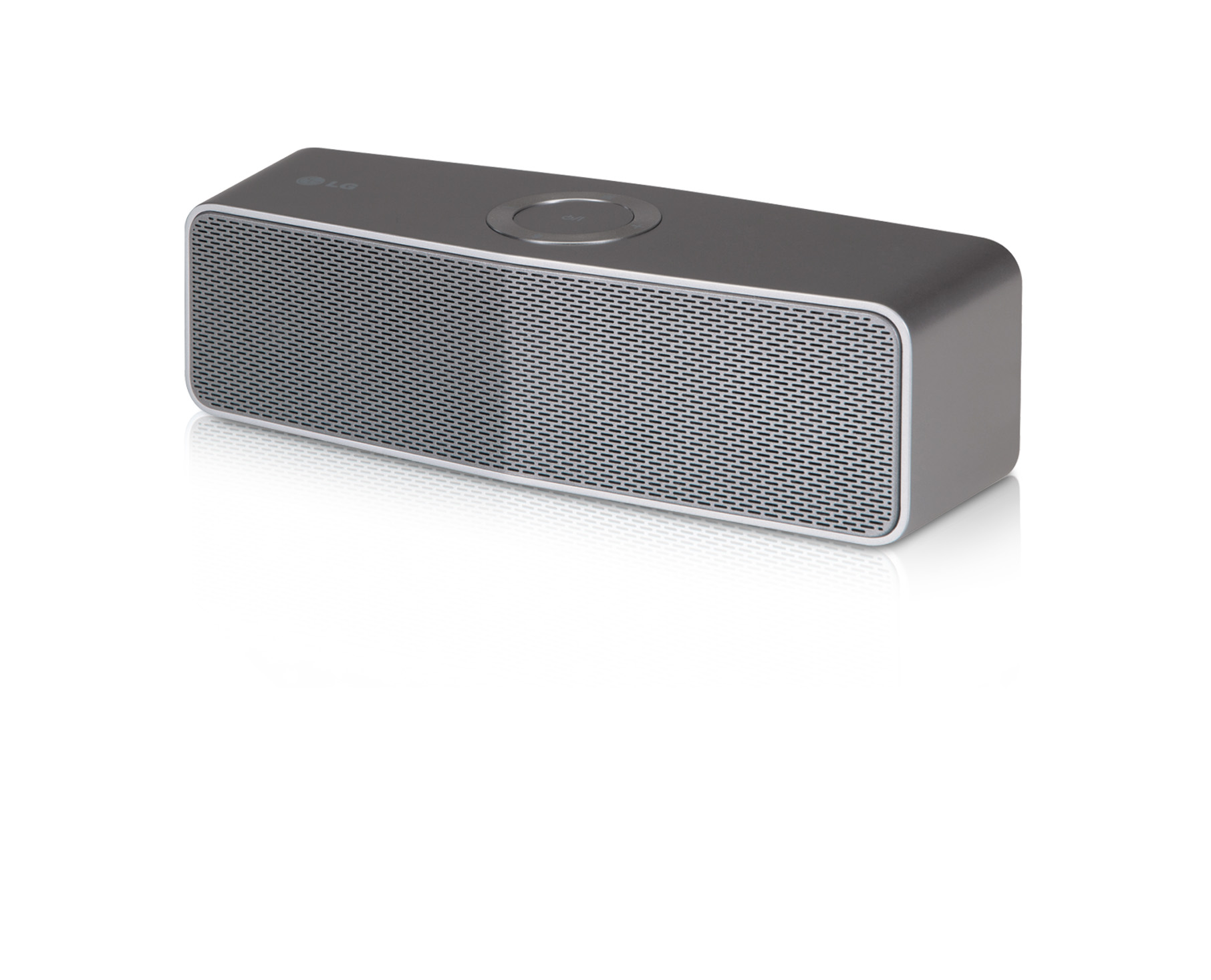 A right-side view of LG battery-powered Wi-Fi Speaker model H4 Portable