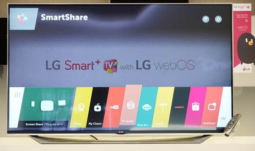 LG's webOS 2.0 displayed on Smart TV