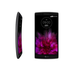 A side view and a front view of LG G Flex2.