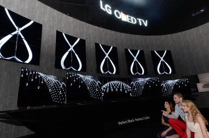 LG's OLED TV zone at the 2015 International CES