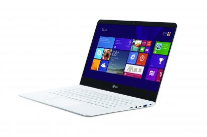 A right-side view of LG's lightest 14-inch Ultra PC model 14Z9501