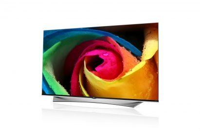 A right-side view of LG ULTRA HD TV model UF9500