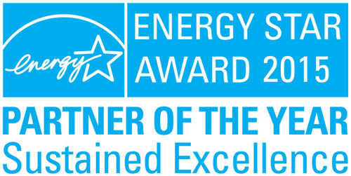 Logo of the U.S. Environmental Protection Agency's (EPA) 2015 ENERGY STAR Partner of the Year–Sustained Excellence Award, which was awarded to LG.