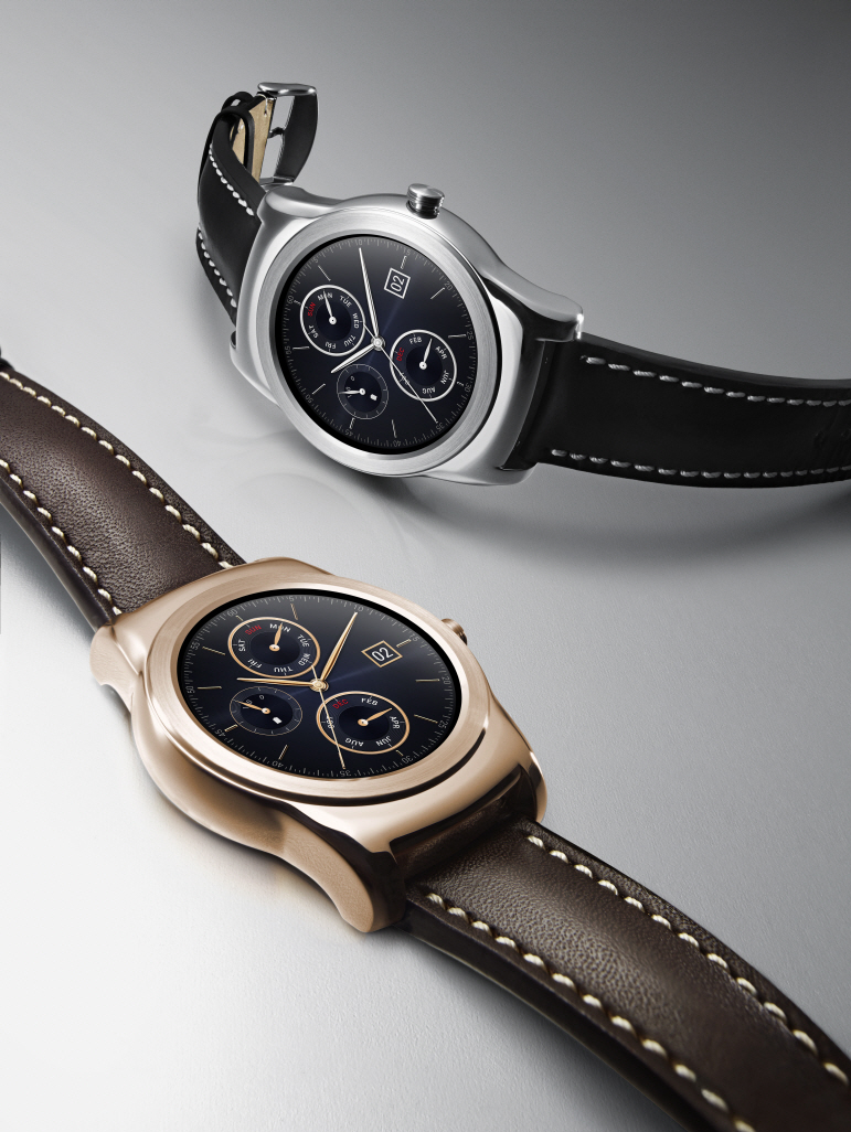Two LG Watch Urbanes(Each in Silver and Rose Gold color)
