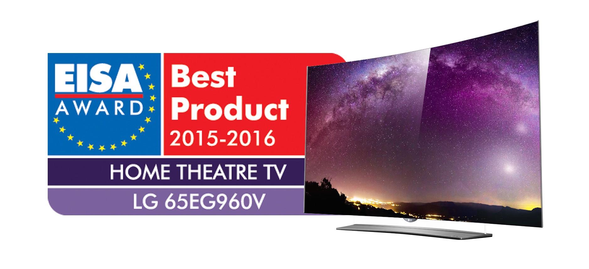LG's 4K OLED TV (model 65EG960V) won the European Home Theatre TV category at the European Imaging and Sound Association (EISA) Awards.