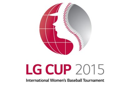 Logo of LG Cup International Women's Baseball Tournament in 2015.